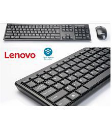 Lenovo 100 Wireless Keyboard & Mouse Combo (Black)