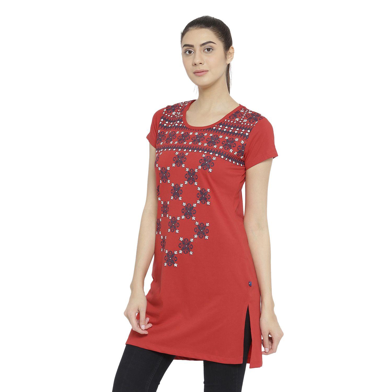 cdc8bb6fbb1 Neva Cotton Tunics - Red - Buy Neva Cotton Tunics - Red Online at ...