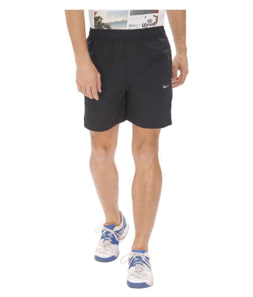 Nike Navy Polyester Lycra Running Shorts