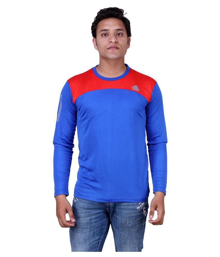 Abloom Blue Round T-Shirt