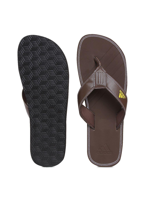 c61bc3ba6 Adidas Men Brizo 4.0 MS Brown Thong Flip Flop Price in India- Buy Adidas  Men Brizo 4.0 MS Brown Thong Flip Flop Online at Snapdeal