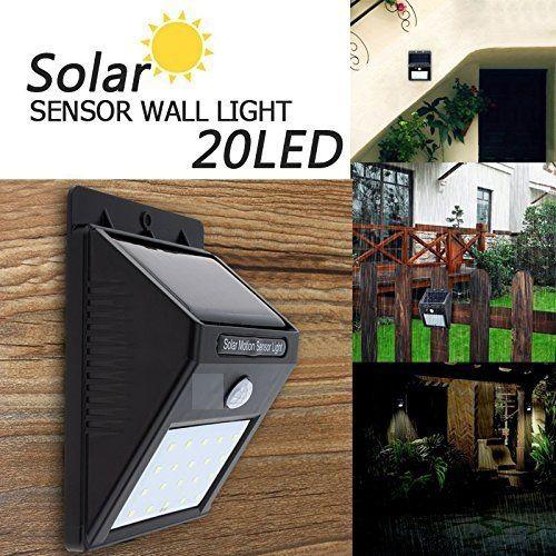 Bentag 20 Led 4w Solar Motion Sensor Outdoor Panel Light Pack Of 1