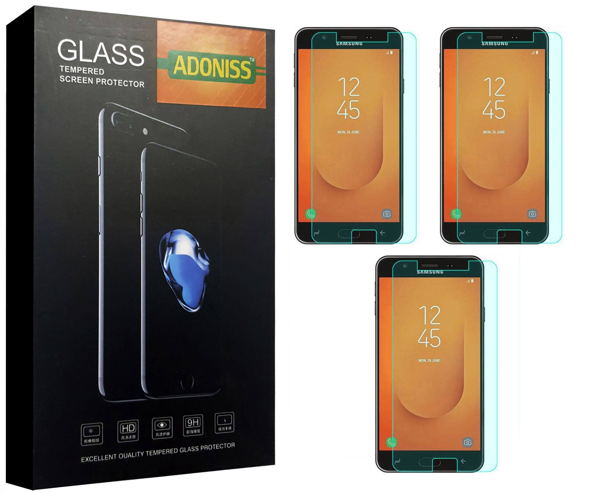 Samsung Galaxy J7 Duo Tempered Glass Screen Guard By Adoniss