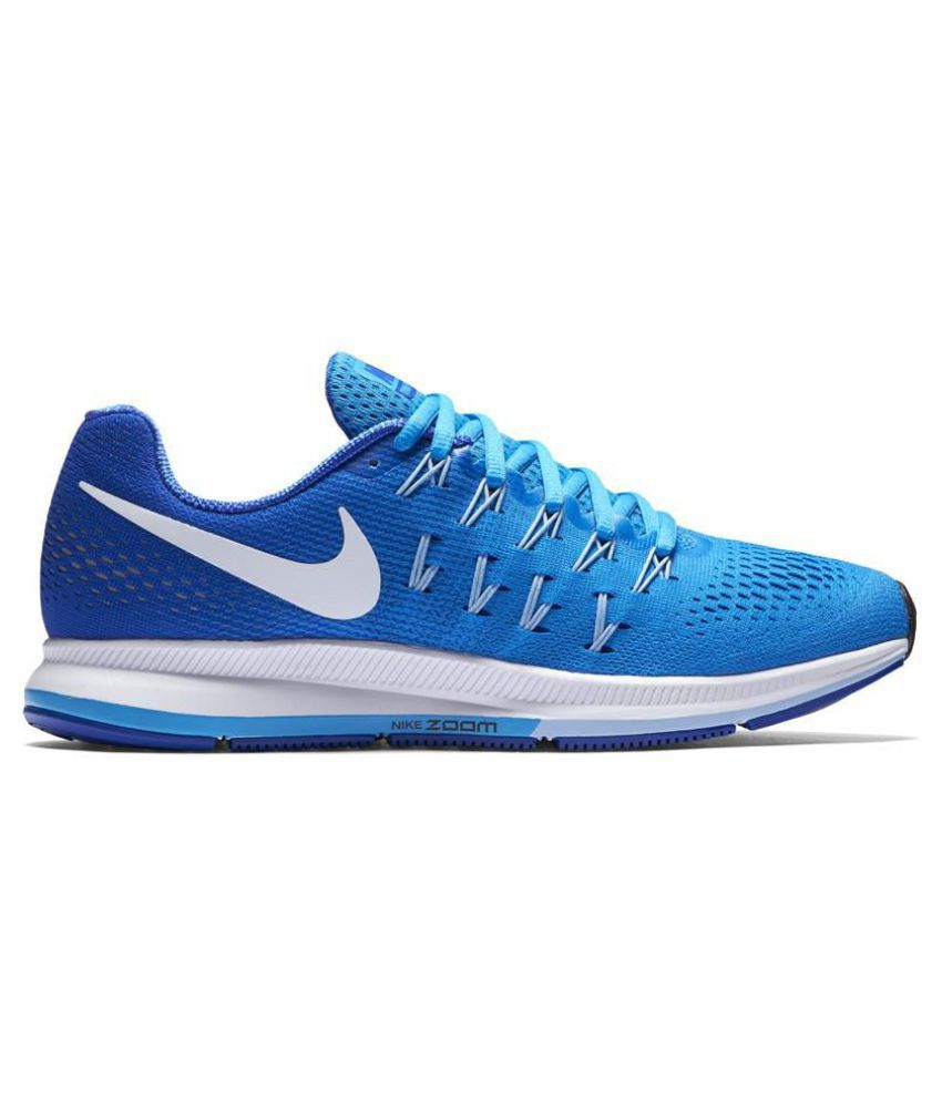 0d93d25e0 Nike Air Zoom Pegasus 33 Blue Running Shoes - Buy Nike Air Zoom Pegasus 33  Blue Running Shoes Online at Best Prices in India on Snapdeal