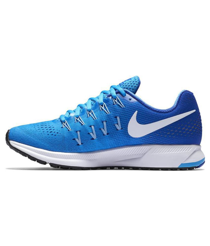 online store 3cea9 19b83 ... Nike Air Zoom Pegasus 33 Blue Running Shoes ...