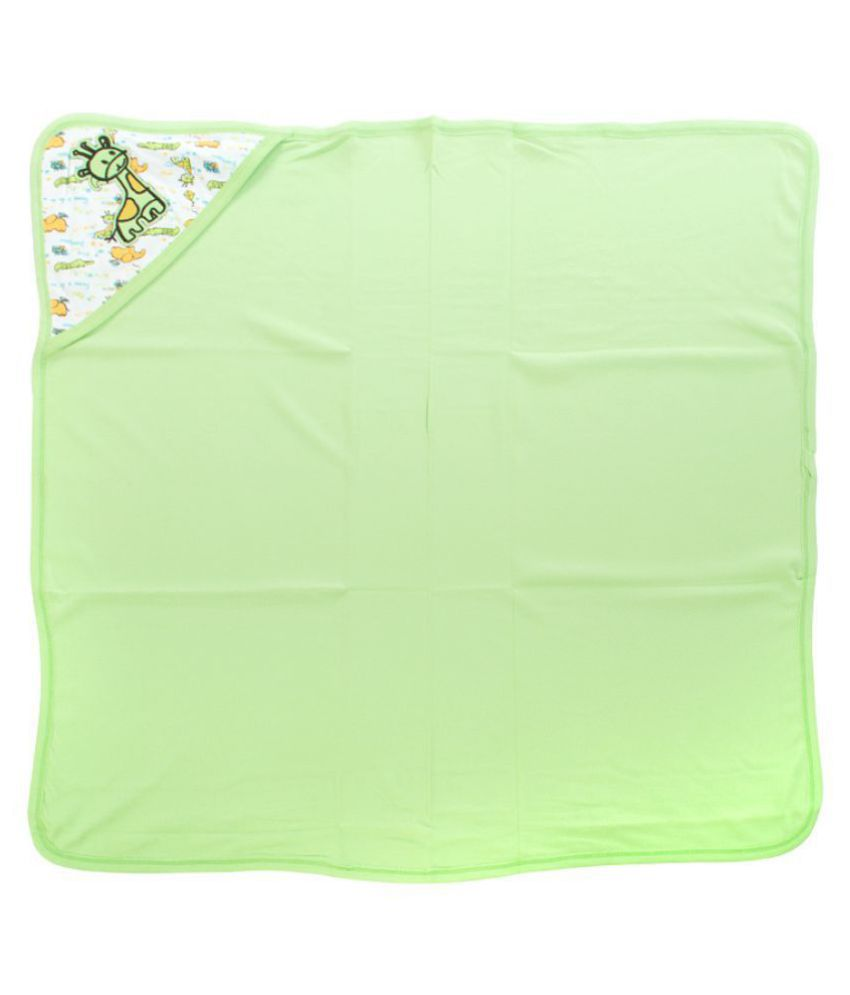 Mee Mee Green Cotton Baby Wrap cum blanket ( 28 cm × 1 cm - 1 pcs)