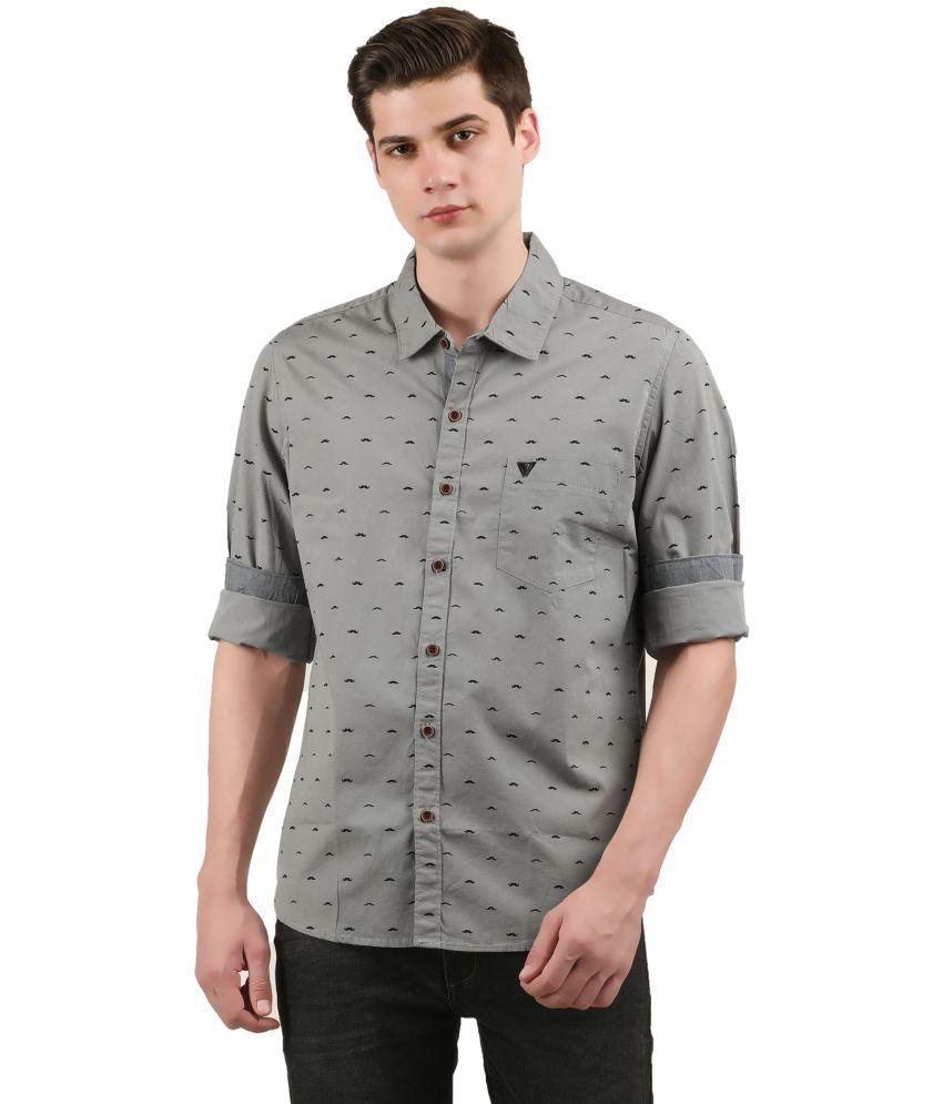 WRINKLE Grey Slim Fit Shirt
