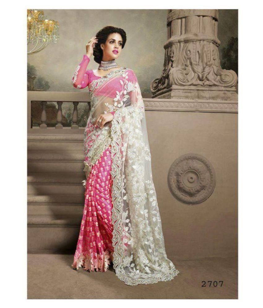 edf071e8597f Zofey Bollywood Designer Sarees Pink and Grey Net Saree - Buy Zofey Bollywood  Designer Sarees Pink and Grey Net Saree Online at Low Price - Snapdeal.com