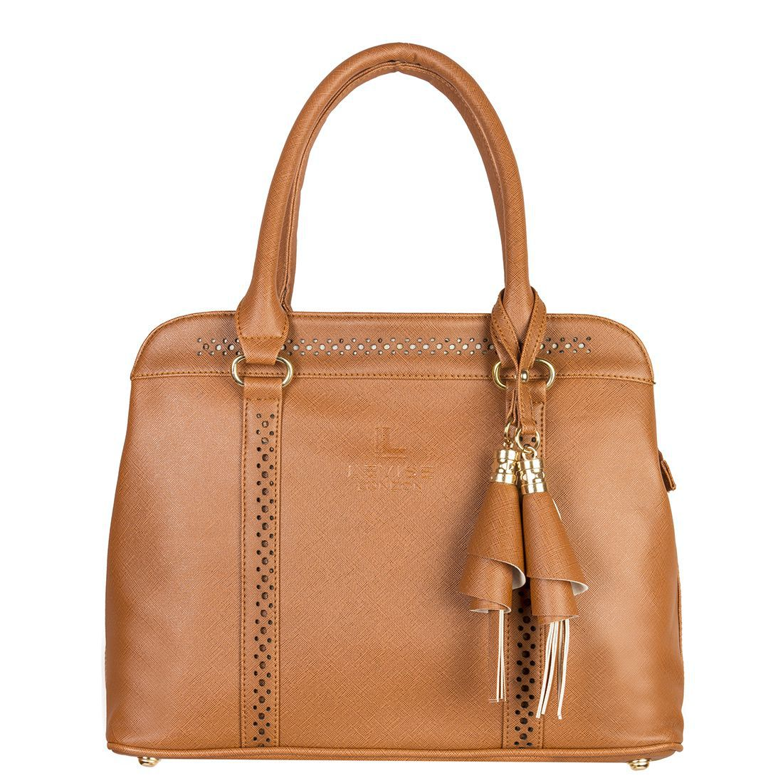 LEVISE LONDON Brown Faux Leather Handheld