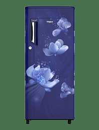 Whirlpool 190 Ltr 3 Star 205 IMPC PRM 3S SAPHIRE FLORA Single Door Refrigerator - Blue