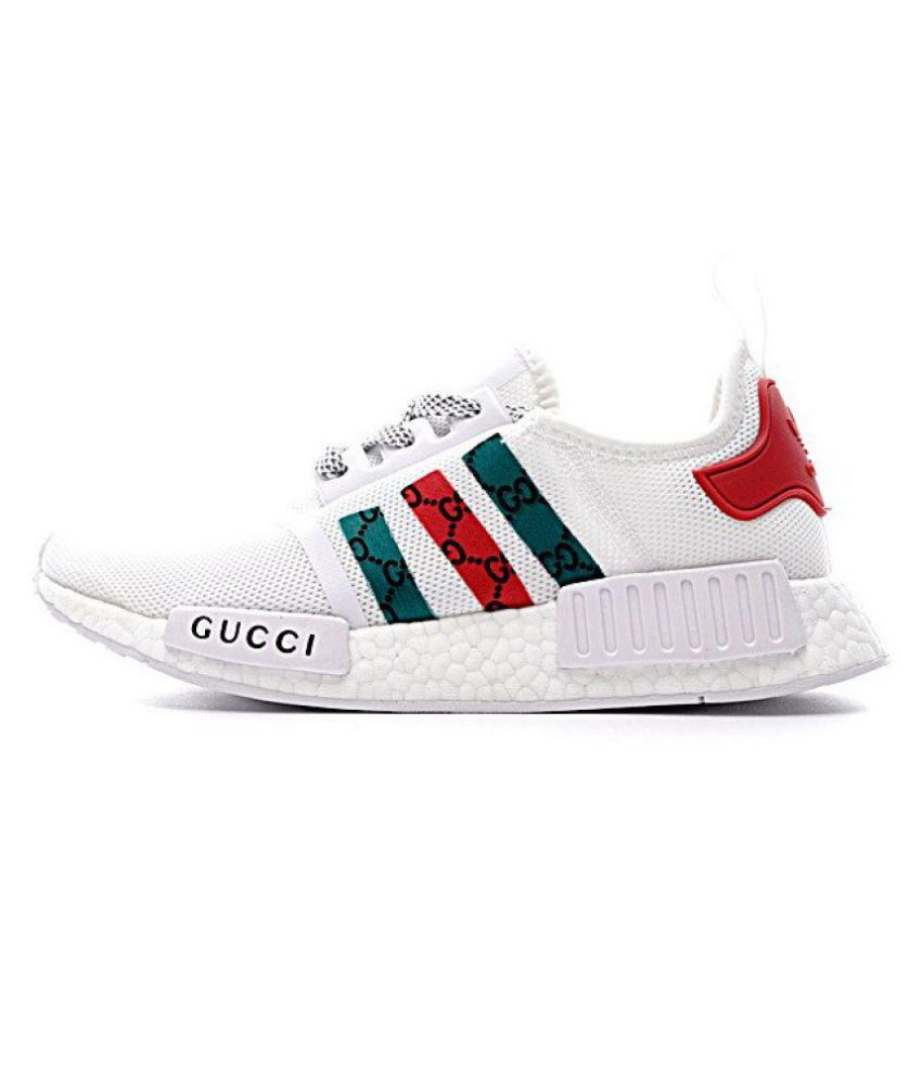 b86447aafb0b Adidas NMD White Running Shoes - Buy Adidas NMD White Running Shoes Online  at Best Prices in India on Snapdeal