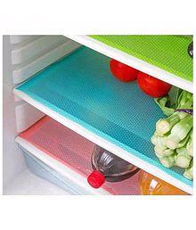 E-Retailer Set of 6 PVC Multicolor Refrigerator Drawer Mats Fridge Mats