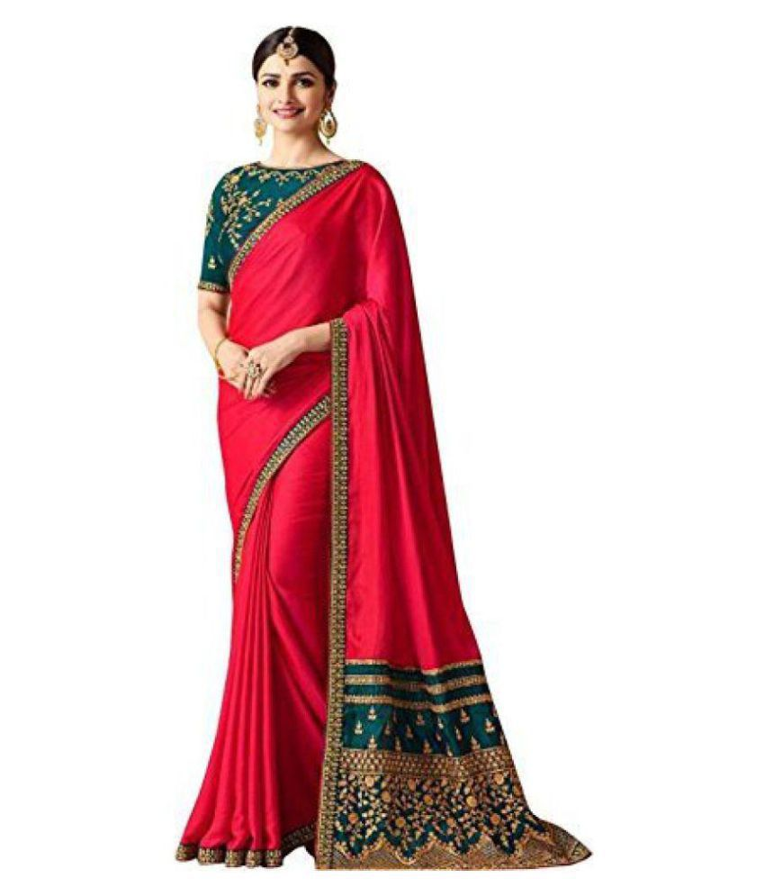 4256e85aa1 Ethnic India Pink Paper Silk Saree - Buy Ethnic India Pink Paper Silk Saree  Online at Low Price - Snapdeal.com