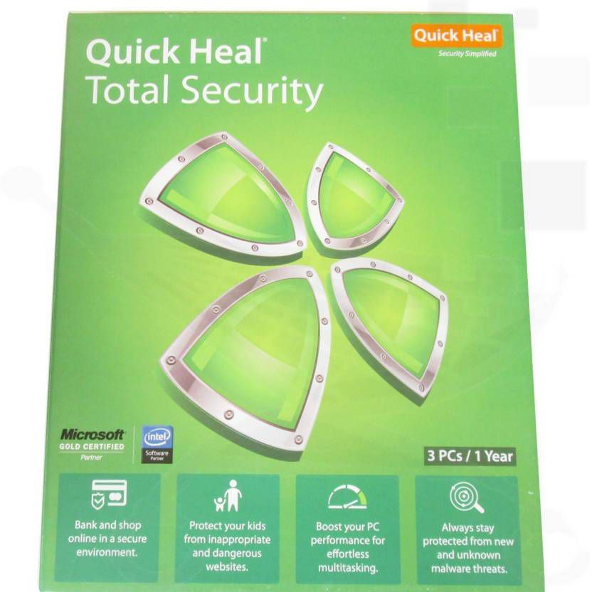 QUICK HEAL TOTAL SECURITY Antivirus Latest Version ( 3 PC / 1 Year ) - DVD