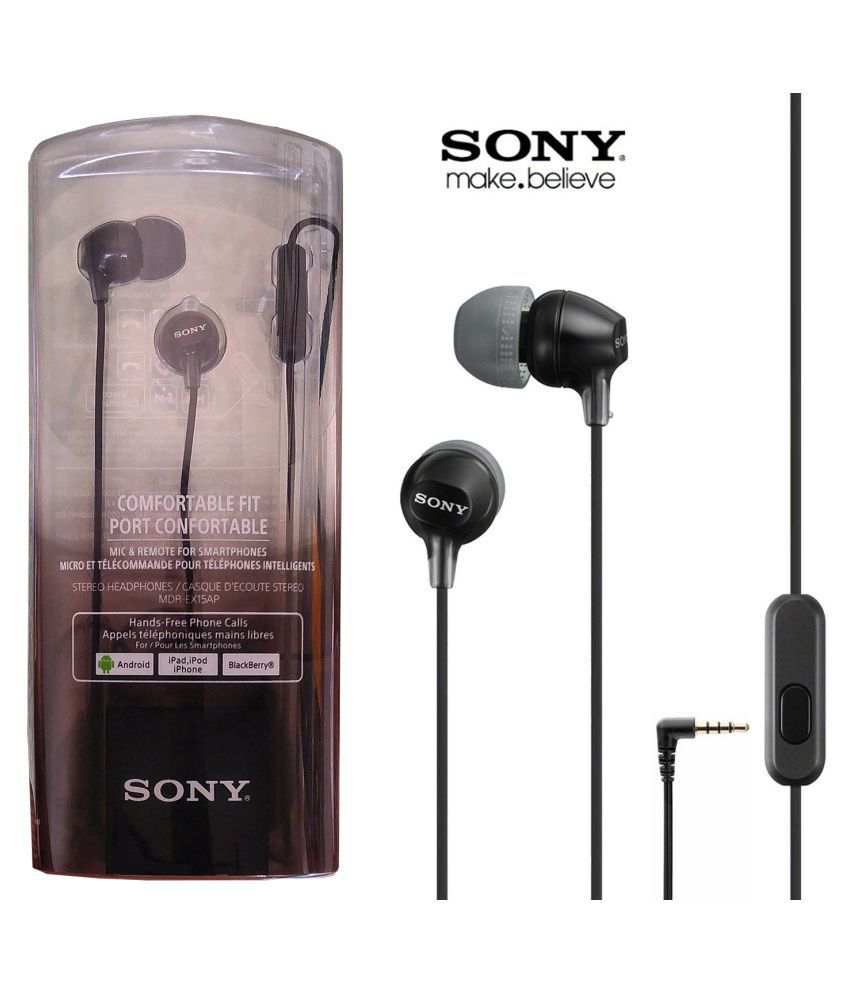 a406c60b9ef Sony MDR-EX15AP In Ear Wired Earphones With Mic - Buy Sony MDR-EX15AP In  Ear Wired Earphones With Mic Online at Best Prices in India on Snapdeal