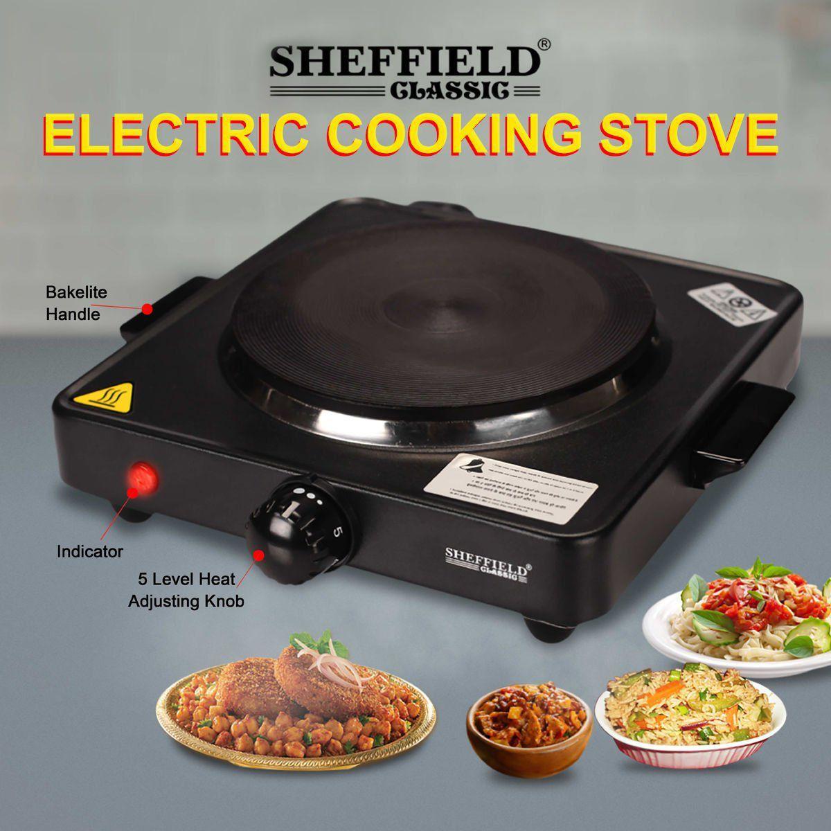 Sheffield Clic 1500 Watt Electric Hot Plate Cook Top