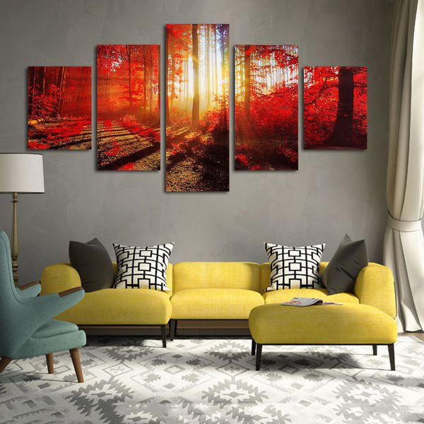 Forest Sunshine Digital Canvas Printing without Frame AHDCP-x02