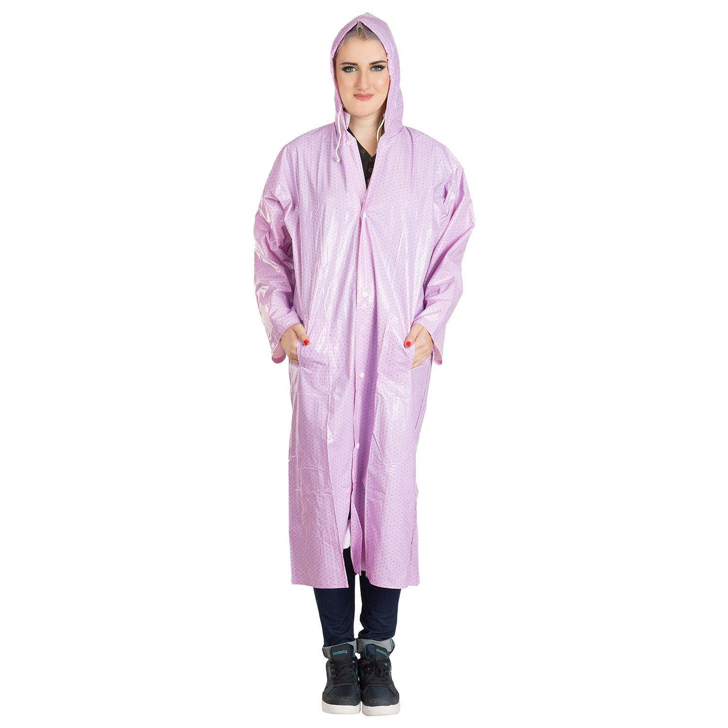 BURDY Waterproof Long Raincoat - Purple