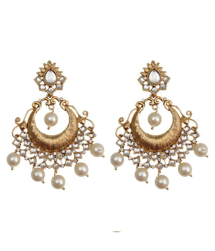 Taj Pearl Traditional Drop dangle Earrings