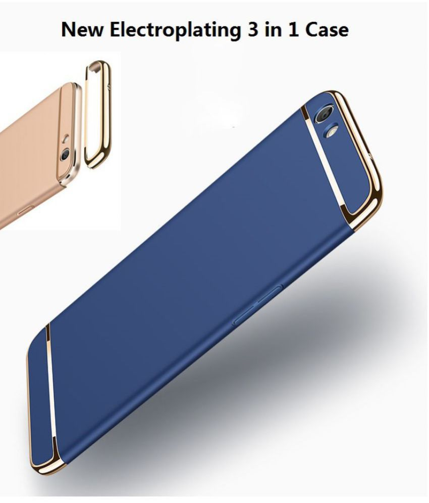 Oppo A83 - 3 in 1 Protective Cover by ClickAway - Blue