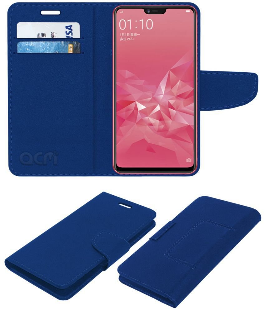 outlet store cc0bf edc8e RealMe 1 Flip Cover by ACM - Blue NA