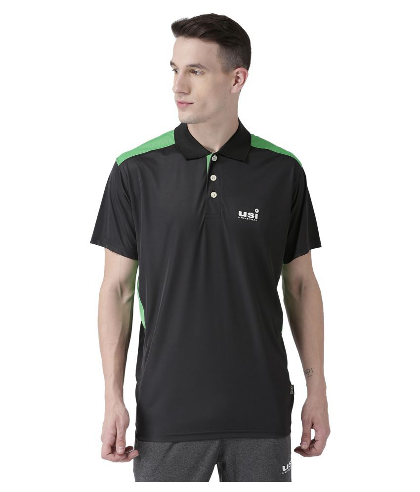 USI Universal Black And Green Training T-Shirt