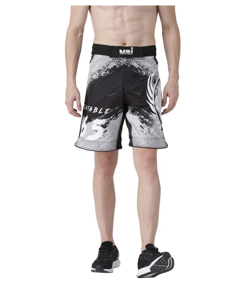 USI Universal Black And Grey Training Shorts