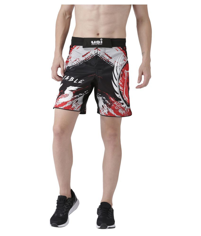 USI Universal Black And Red Training Shorts