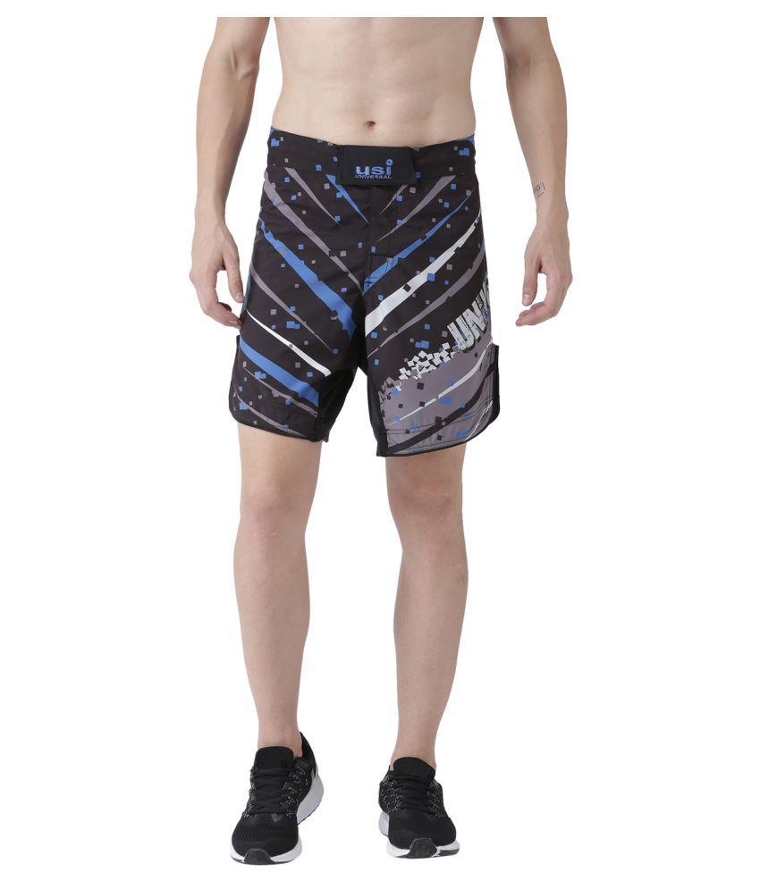 USI Universal Black, Blue And Grey Training Shorts