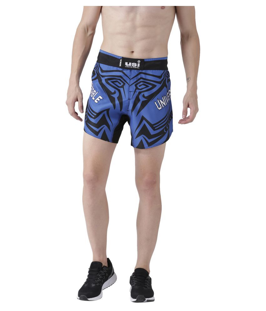USI Universal Blue And Black Training Shorts