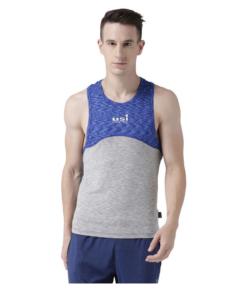 USI Universal Grey And Blue Training T-Shirt