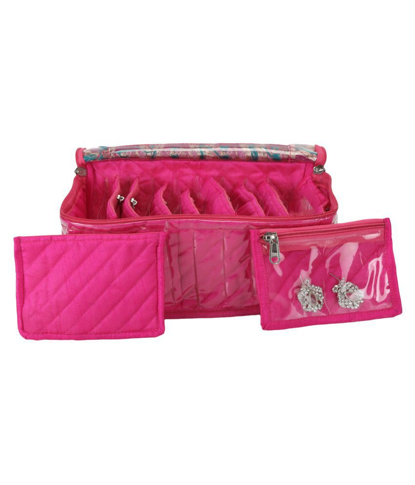 E-Retailer Pink PVC Jewellery Box ( Pack of 10 Pouches)