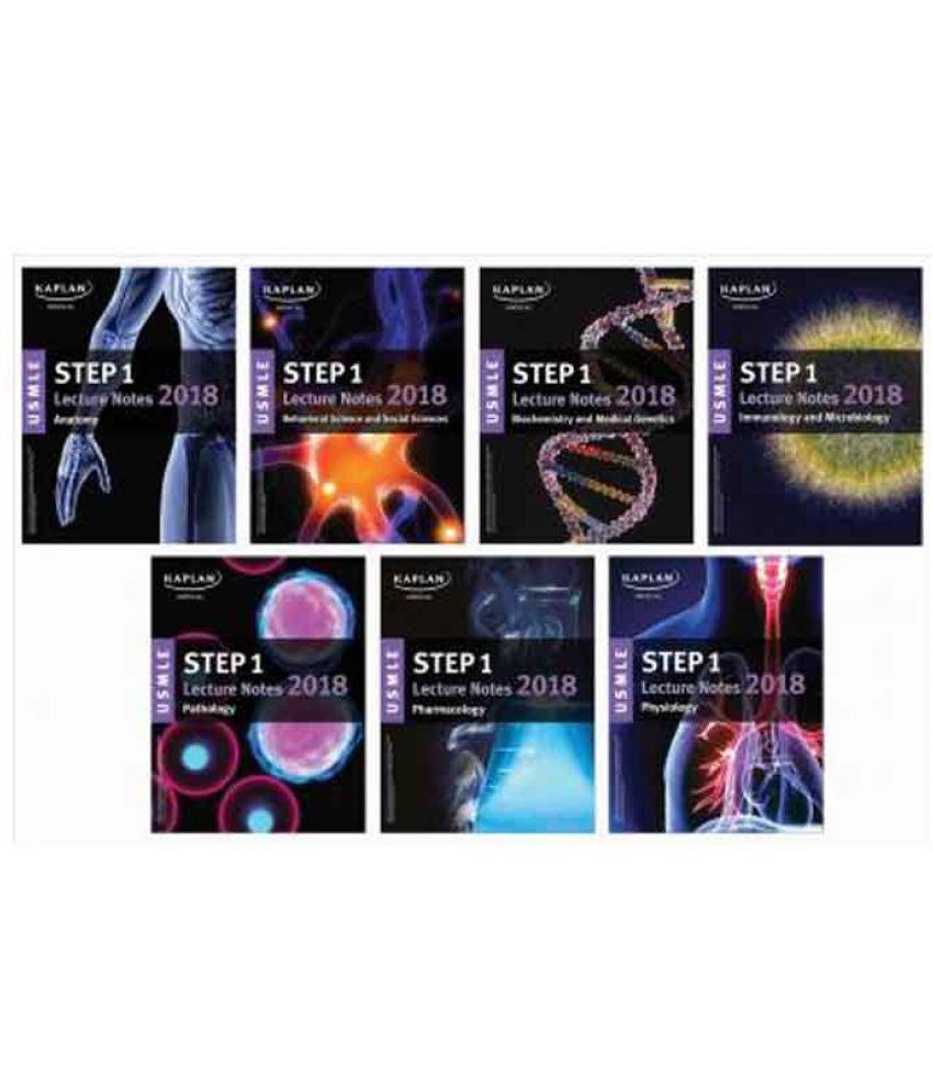 USMLE Step 1 Lecture Notes 2018: 7-Book Set (English, Paperback, Kaplan  Medical)