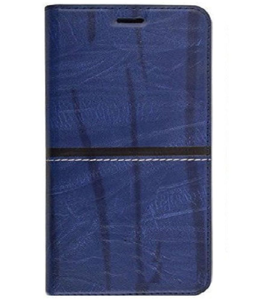 Vivo V9 Flip Cover by VinyakMobile - Blue RICH BOSS FLIP COVER