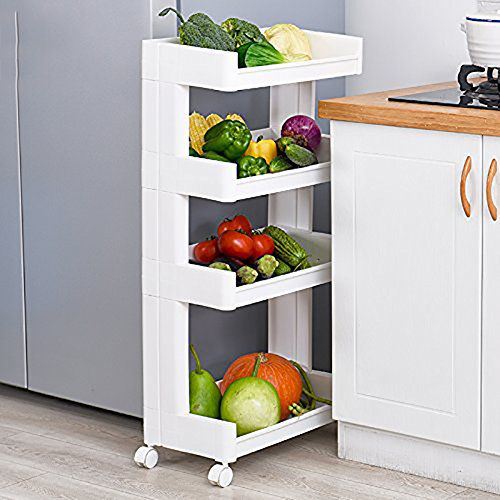 storage trolley cart with wheels for kitchen bathroom by house of rh snapdeal com