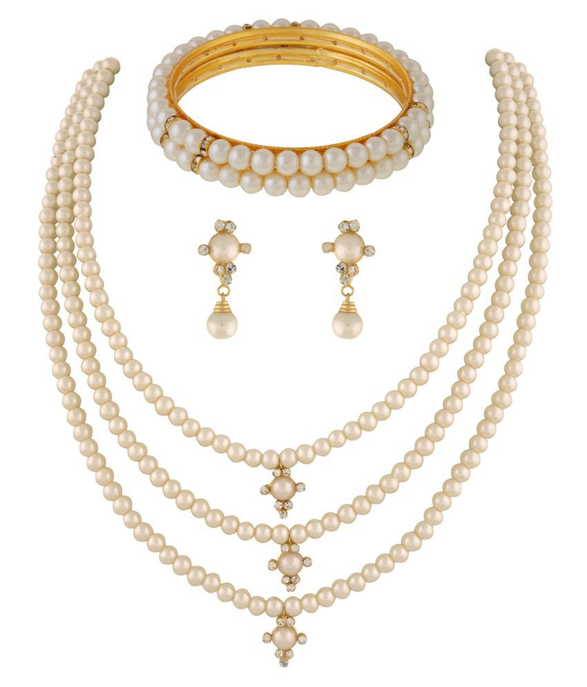 ClassiqueDesigner Jewellery Pearl Set with Bangles