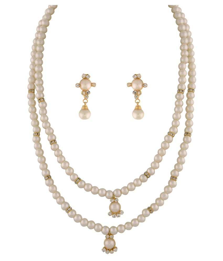 ClassiqueDesigner Jewellery Two Layer Beautiful Pearl Set