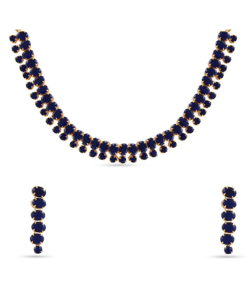 Jewlot(Group of Kalyani Covering) AD Necklace Set for Women and Girls