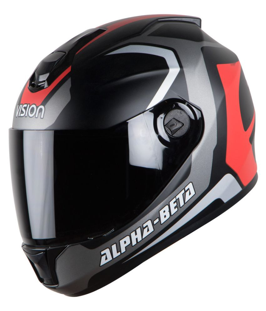 Steelbird SBH-11 Alpha Beta Matt - Full Face Helmet Black L