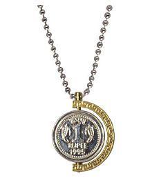 Shiv Jagdamba Rupees Symbol Anjaan Locket Gold And Silver Alloy Pendant For Men and Boys