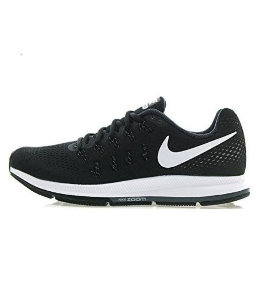 cheap for discount 347e5 256a2 Nike zoom pegasus 33 Black Running Shoes - Buy Nike zoom pegasus 33 Black  Running Shoes Online at Best Prices in India on Snapdeal