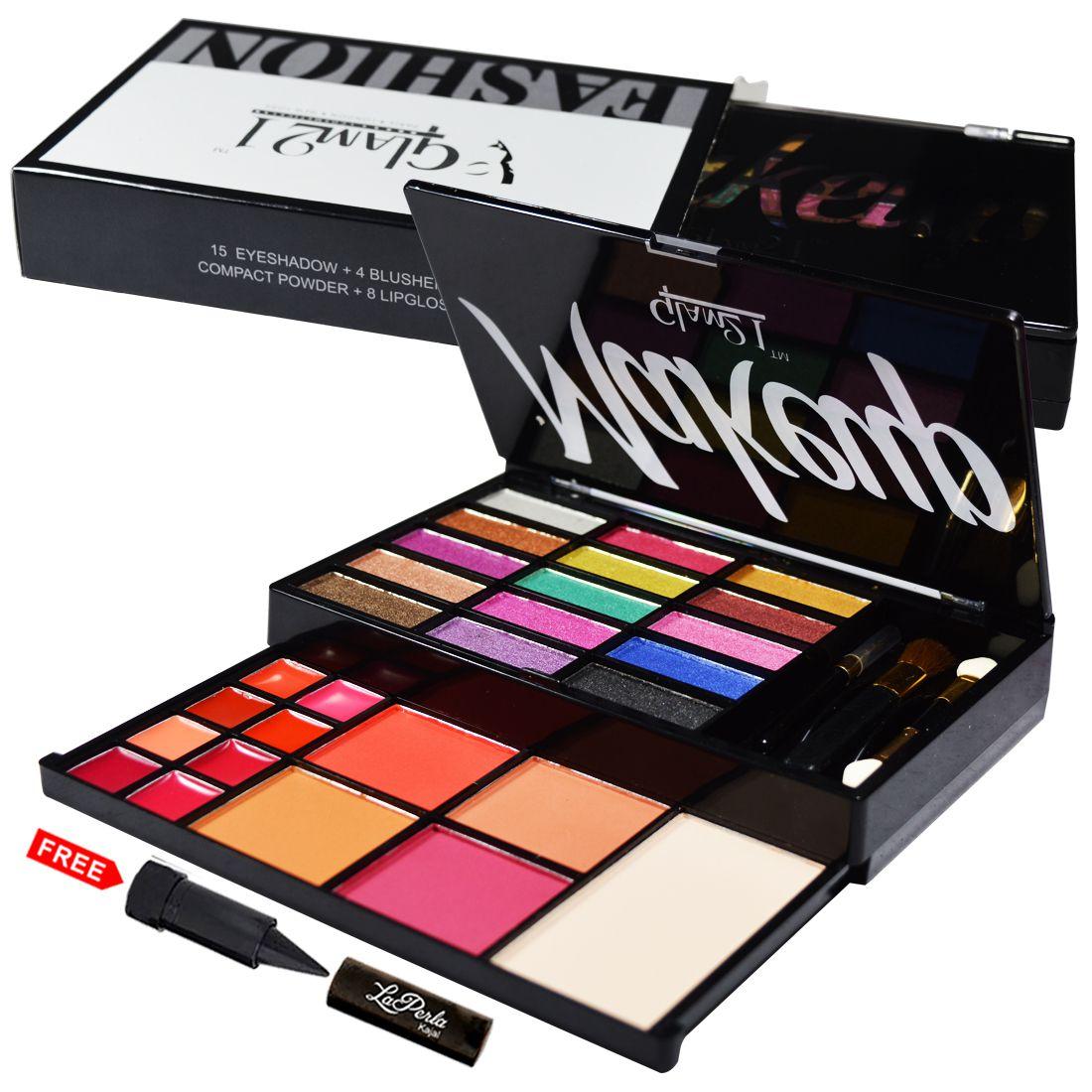 Glam21 Fashion Eyeshadow, Blusher And Lipgloss ES411-01 Makeup Kit 50