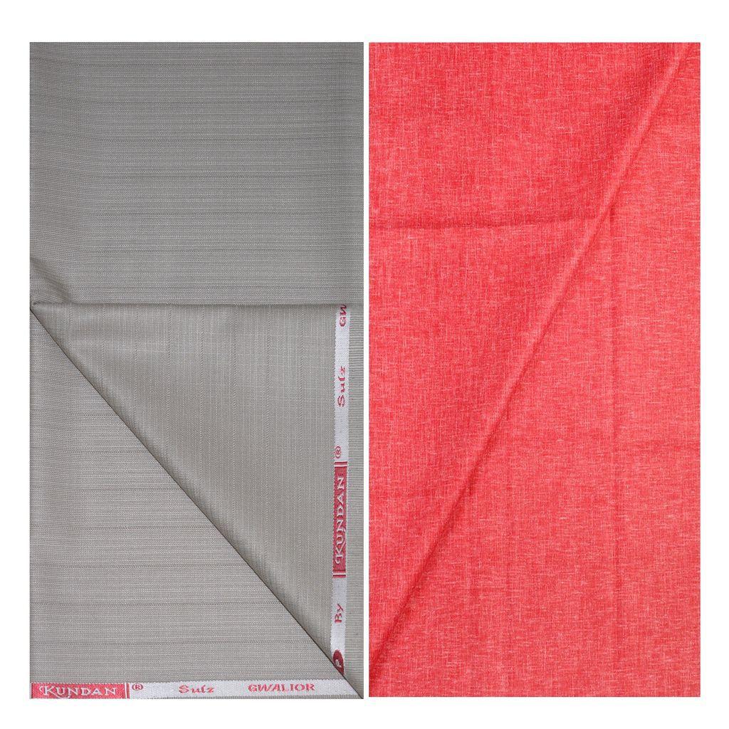 KUNDAN SULZ GWALIOR Multi Cotton Blend Unstitched Shirts & Trousers ( 1 Pant & 1 Shirt Piece )