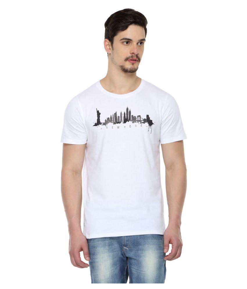 ODAKA White Round T-Shirt
