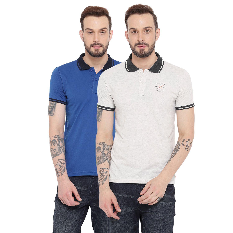 Duke Multi Regular Fit Polo T Shirt Pack of 2