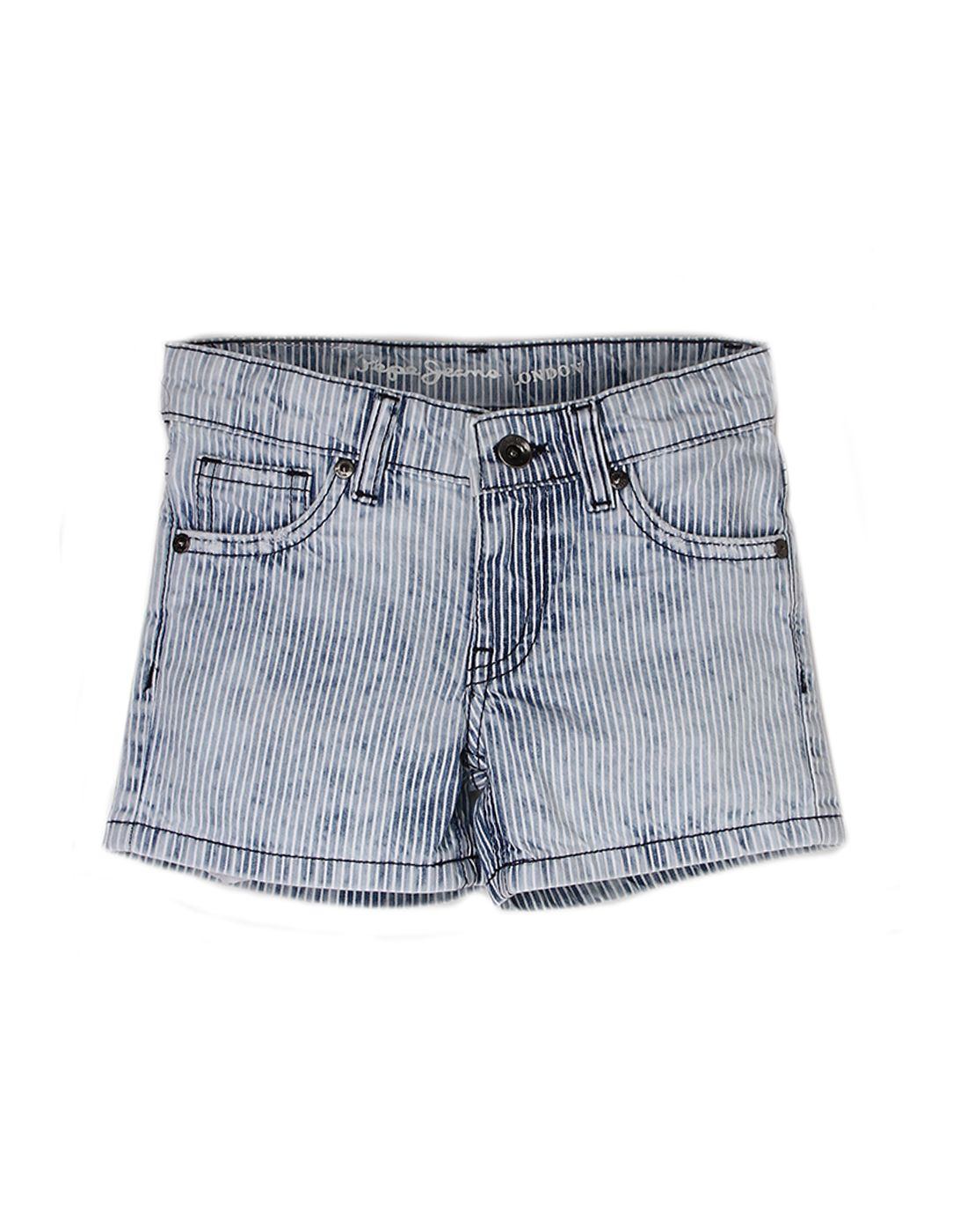 Pepe Jeans Girls Cotton  Regular Casual Blue Short