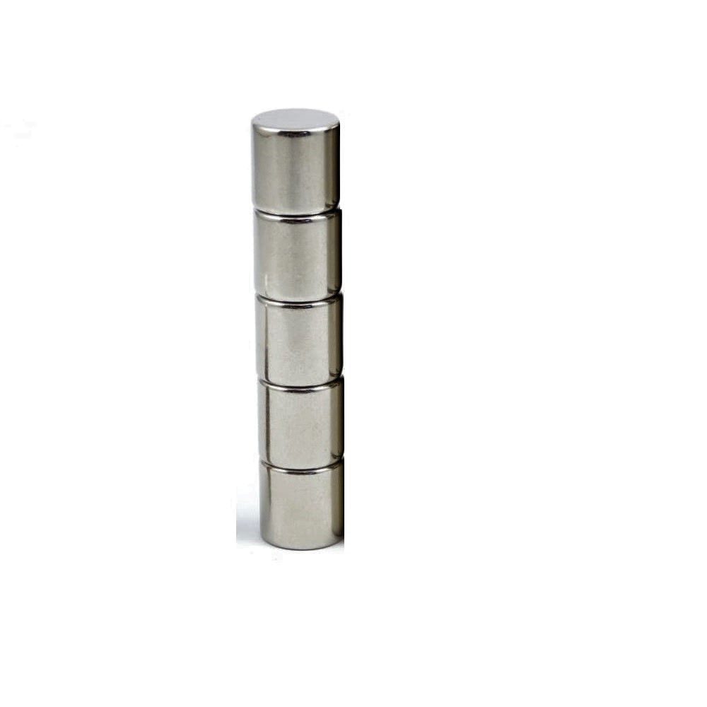 5 Pieces of 10mm x 10mm Neodymium Magnets - Disc / Cylindrical magnets -  N52 Rare Earth NdfeB