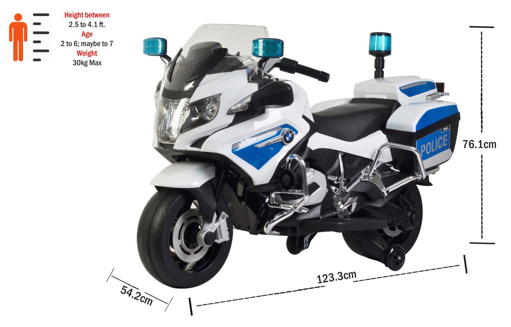 White Toyhouse BMW R 1200 RT Police Motorcycle 12V