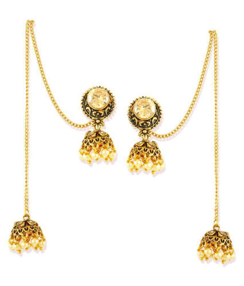 92d0dd4a1b4abb Zaveri Pearls Antique Gold Tone Kashmiri Twin Jhumki Earring-ZPFK6962 - Buy  Zaveri Pearls Antique Gold Tone Kashmiri Twin Jhumki Earring-ZPFK6962 Online  at ...