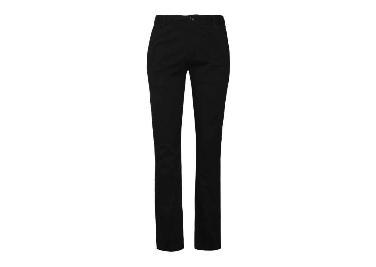 Woodland Black Regular -Fit Flat Trousers
